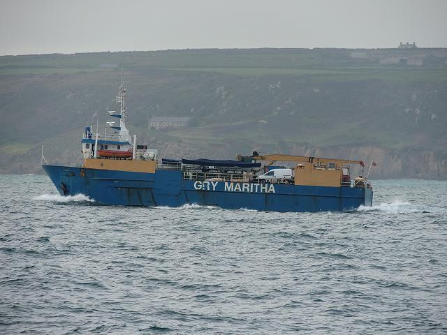 Isles of Scilly Freight Ship Gry Maritha (Boat, Ship, Pleasure ...
