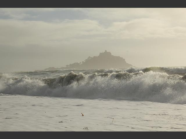 Marazion Beach Cornwall Storm Scenes Waves and Surf Images